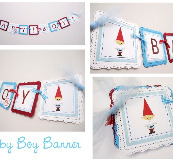 Baby Boy Gnome Banner