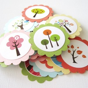 Tree and Bird Favor Tags