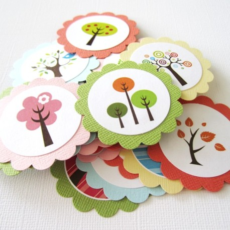 Bird and Tree Favor tags c