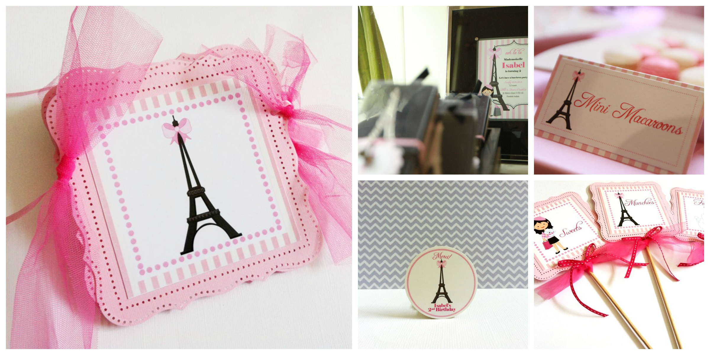 Paris Party Centerpieces in Pink