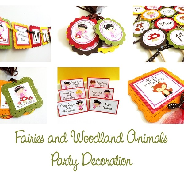 Fairies and Woodland Animal Party Decoration