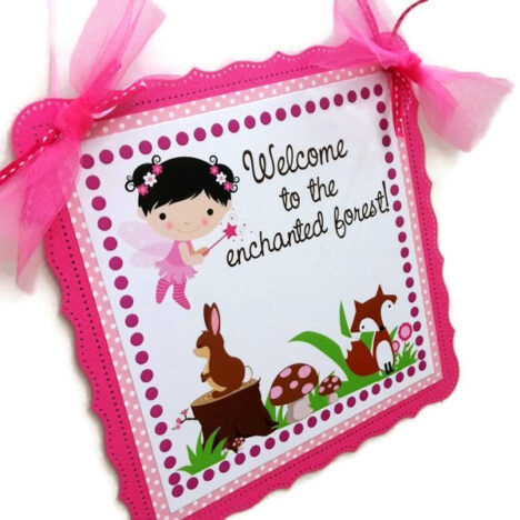Fairy Woodland Party Door Sign