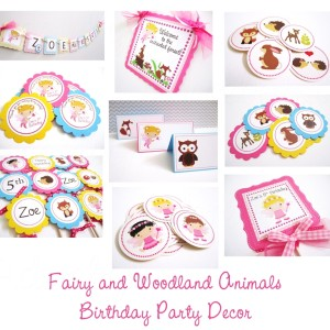 Fairy Woodland Party Decorations, Party Supplies