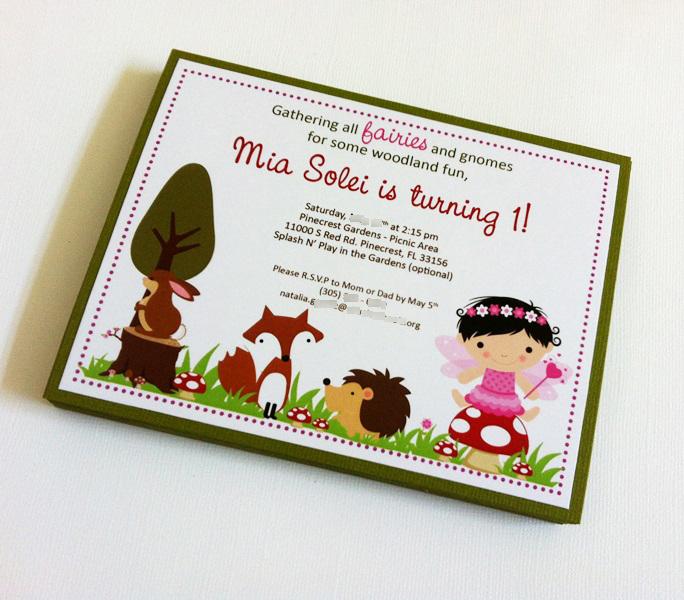 woodland fairy party invitations