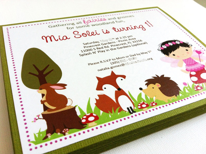 Woodland Fairy Party Invitations Adore By Nat