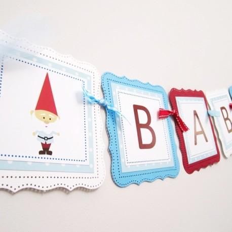 Gnome Baby Boy Banner b