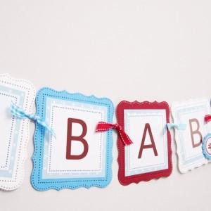 Garden Gnome Baby Shower Banner for a Boy