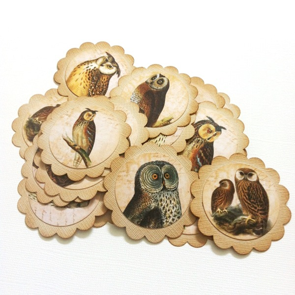Vintage Owl Gift Tags for Party Favors