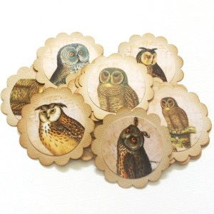 Vintage Owl Gift Tags