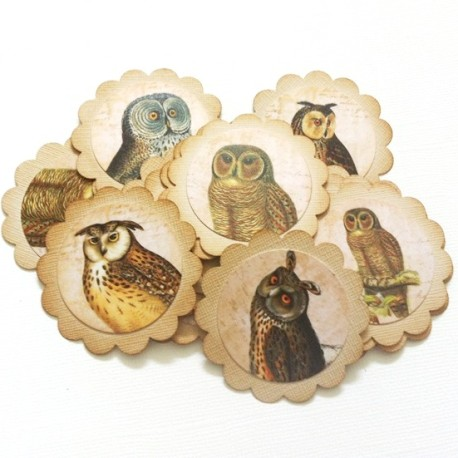 Vintage Owl Tags by Nat of Adore By Nat