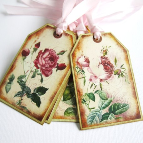 Vintage Rose Gift Tags