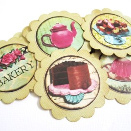Dessert Tags with Bakery Cake and Sweet