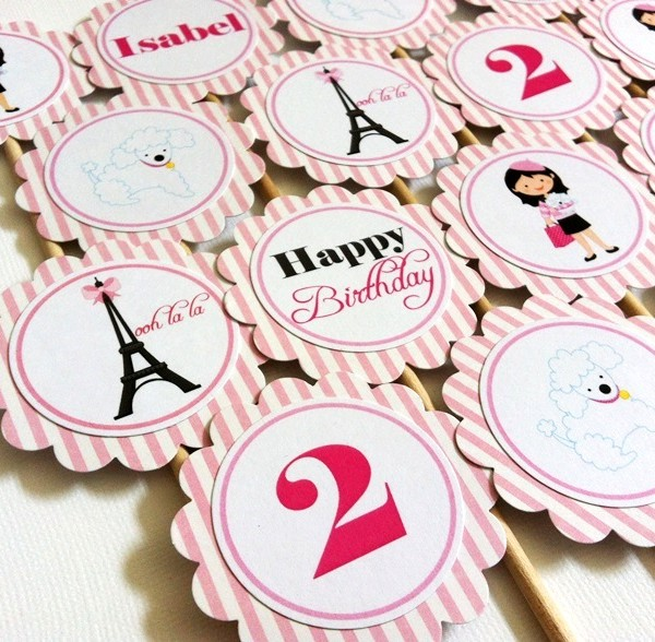 Paris Cupcake Toppers