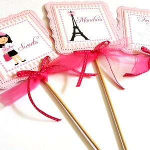 Paris Party Centerpieces in Pink for Birthday, Baby Shower or Bridal Shower