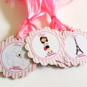 Paris Favor Tags