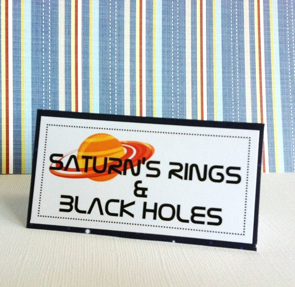 Outer Space Tent Cards, Personalized