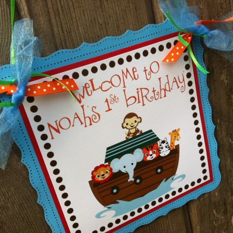 Noah's Ark Sign for Baby Shower or Birthday Party