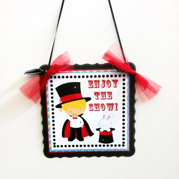 Magician Party Door Sign for Boy's Birthday