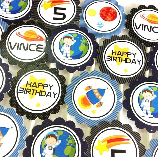 Outer Space Cupcake Toppers