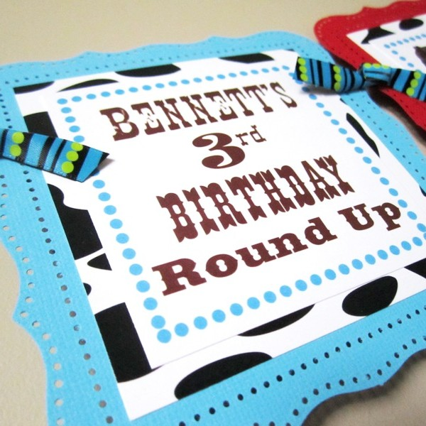Wild West Kids Party Banner