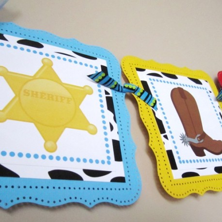 Wild West Cowboy Party Banner for Kids Birthday or Baby Shower