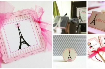 Paris Party Ideas: Decorations and Gifts