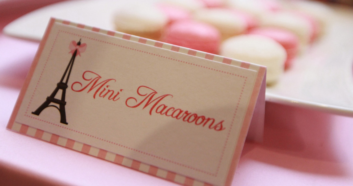 Paris Party Food Tent Cards