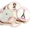 Paris Inspired Party Stickers