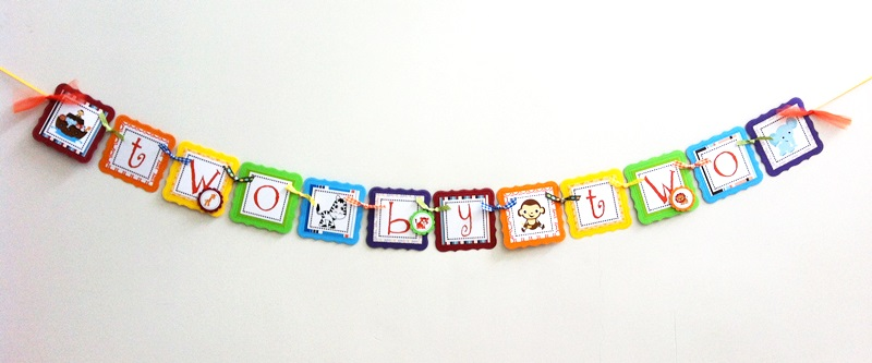 Two by Two Noah's Ark Party Banner a