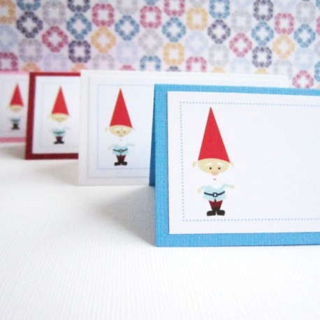 Gnome Party Tent Cards d