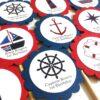 Nautical Cupcake Toppers