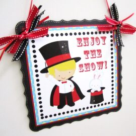 Magician Party Door Sign for Boy's Birthday