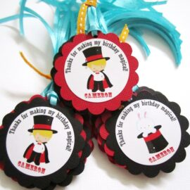 Magic Show Favor Tags