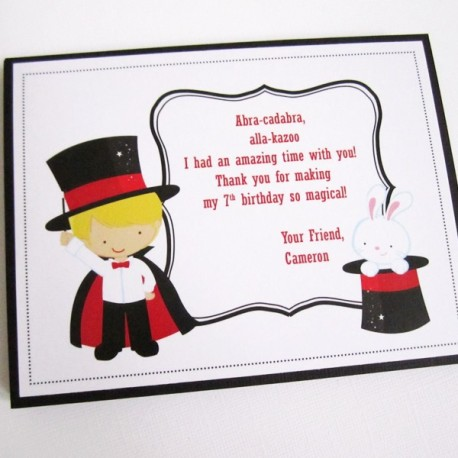 Magic Show Thank You Cards a