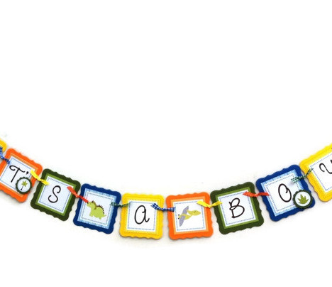 Dinosaur Baby Shower Banner