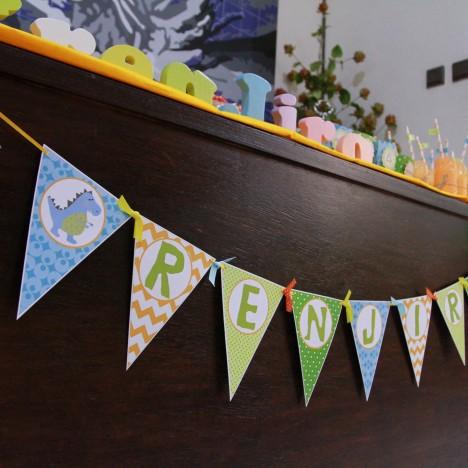 Dinosaur Birthday Banner