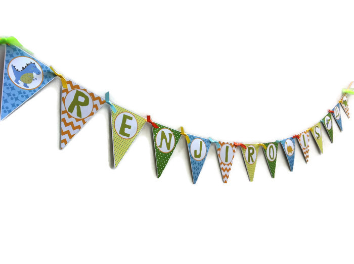 Dinosaur Birthday Banner Party Decoration Adore By Nat
