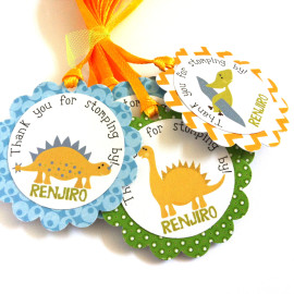 Dinosaur Party Favor Tags