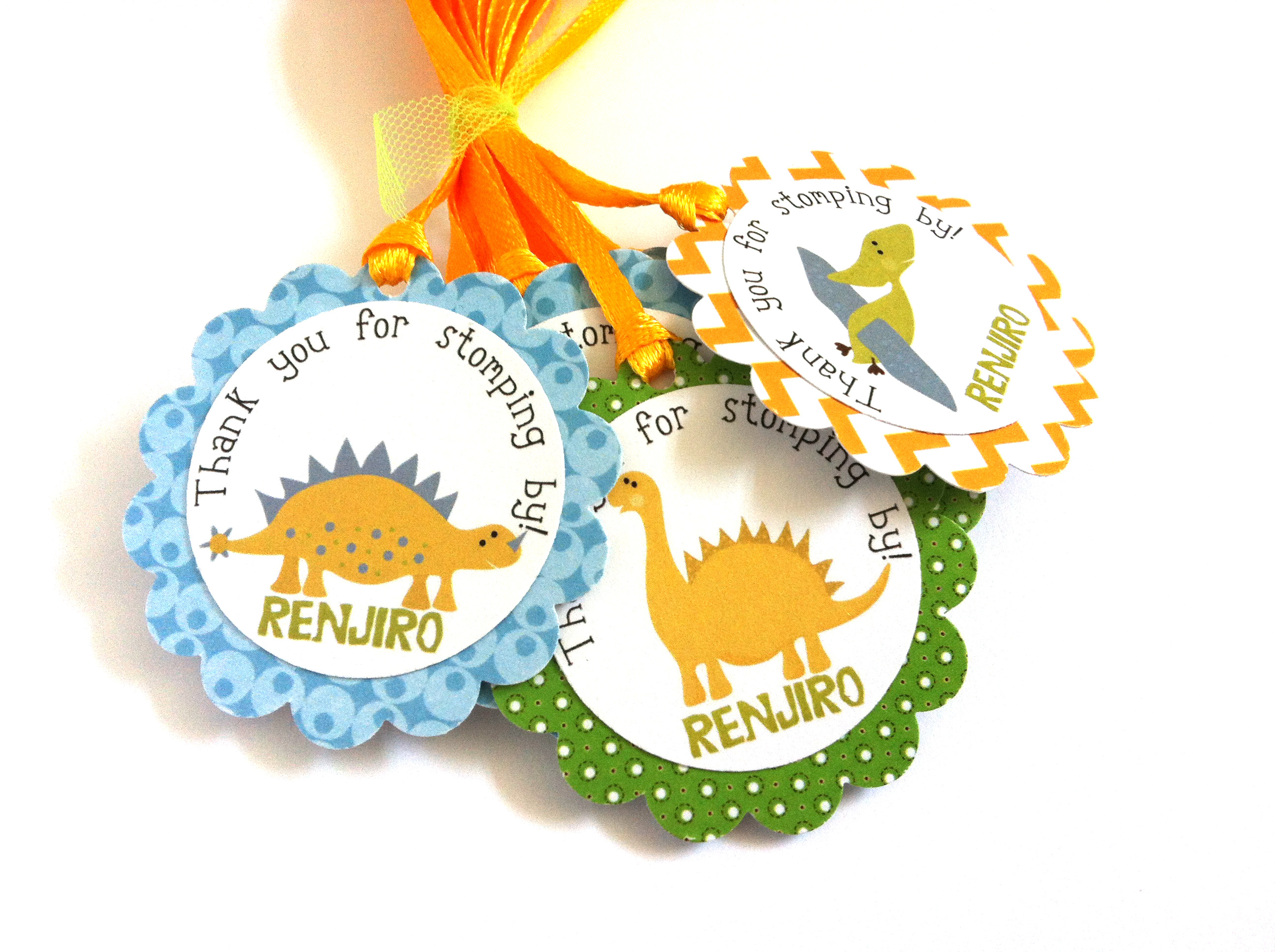 Dinosaur Party Favor Tags For Birthday And Baby Shower Adore By Nat