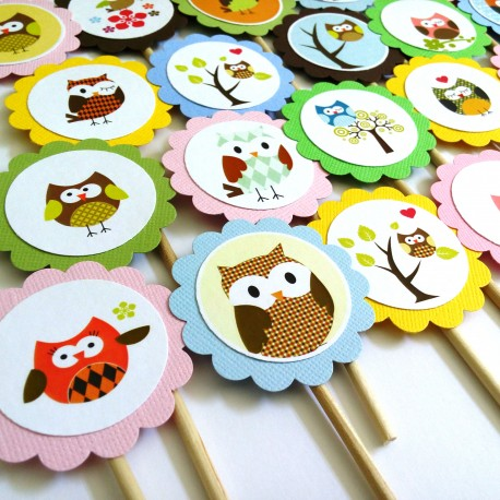 Owl Cupcake Toppers a