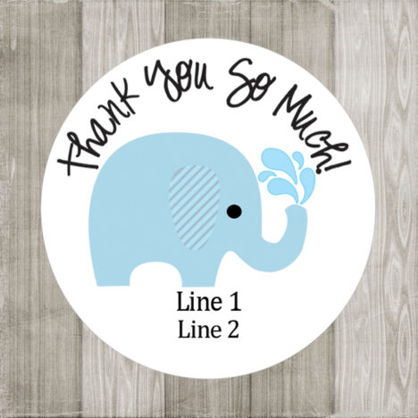 Blue Elephant Stickers