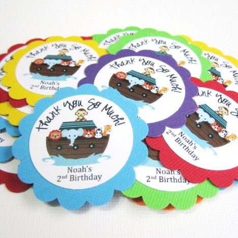 Personalized Noah's Ark Favor Tags