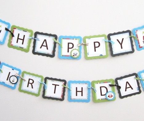 Owl Birthday Banner for Boy