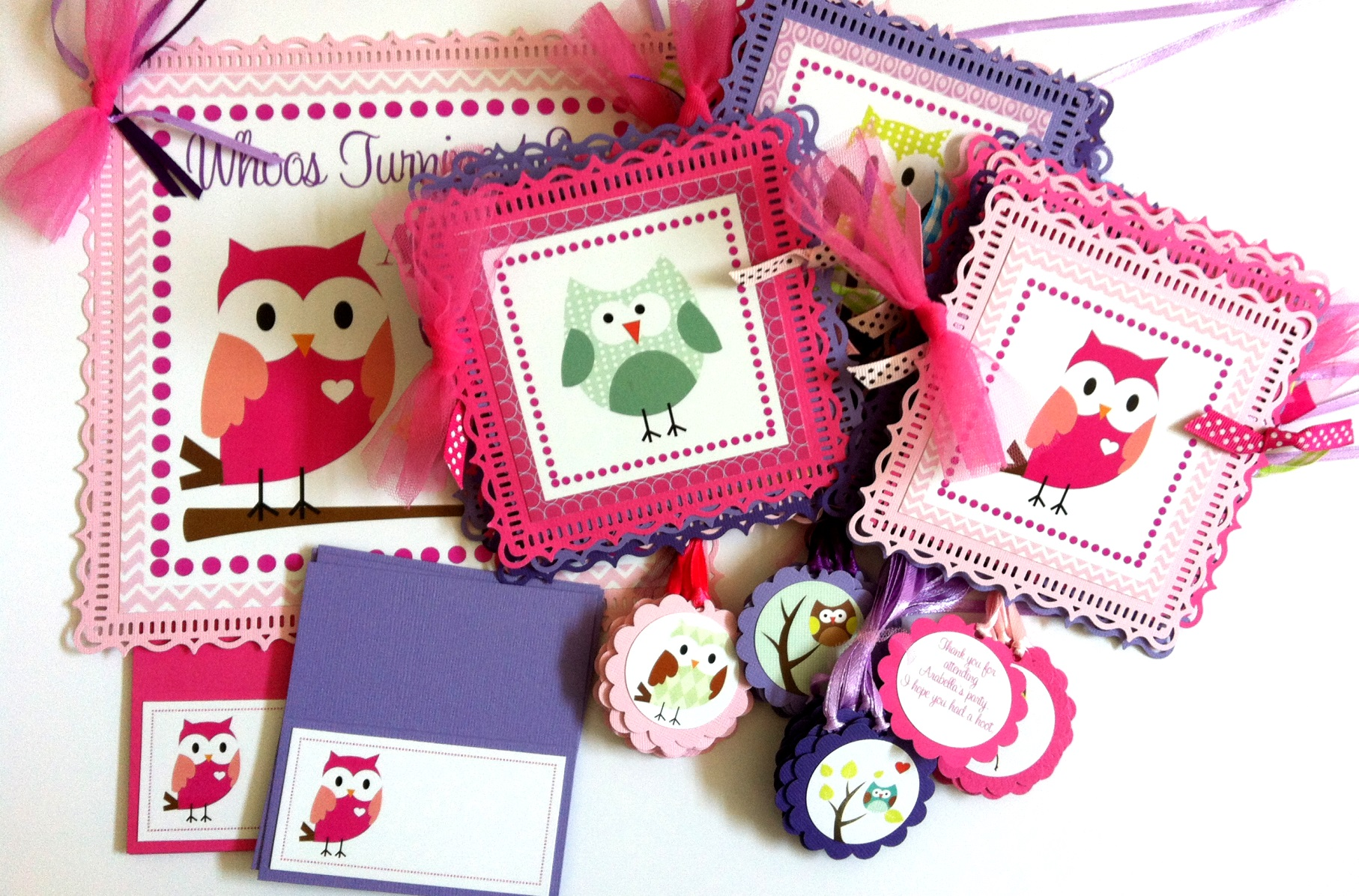 Owl Door Sign in Pink for Birthday or Baby Shower Party  Adore By Nat