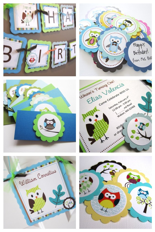 Owl Birthday Banner For Kids Party Adore By Nat
