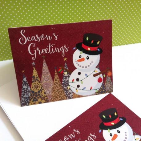 Snowman Christmas Cards b