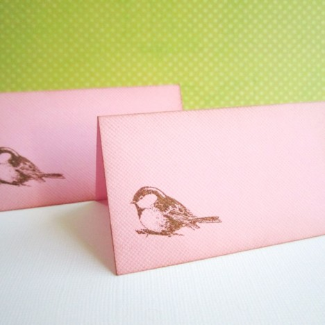 Bird Table Place Cards