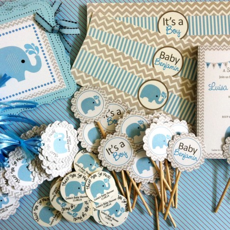 Blue Elephant Party Decorations