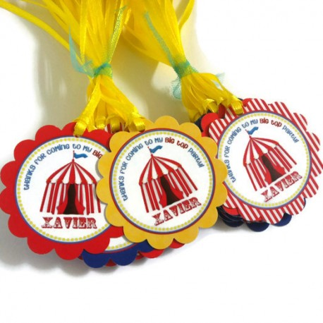 Carnival Party Favor Tags c