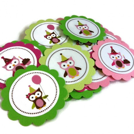 Cute Owl Favor Tags
